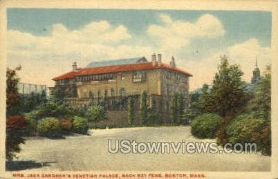 Mrs. Jack Gardner's Venetian Palace - Boston, Massachusetts MA Postcard