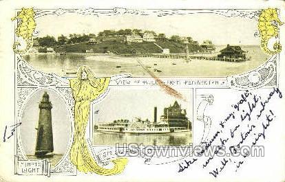 View of Hull from Pemberton - Boston, Massachusetts MA Postcard