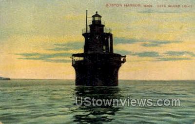 Deer Island Light - Boston, Massachusetts MA Postcard
