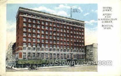 Hotel Avery - Boston, Massachusetts MA Postcard