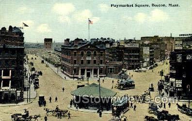 Haymarket Square - Boston, Massachusetts MA Postcard