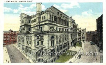 Court House - Boston, Massachusetts MA Postcard