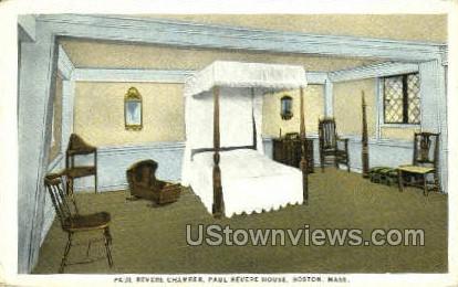 Paul Revere Chamber - Boston, Massachusetts MA Postcard