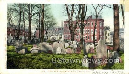 Copps Hill Burying Ground - Boston, Massachusetts MA Postcard