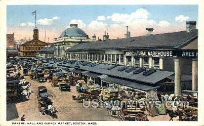Faneuil Hall - Boston, Massachusetts MA Postcard
