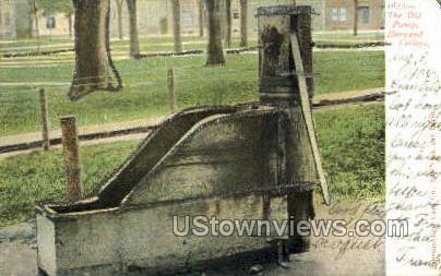The Old Pump, Harvard College - Boston, Massachusetts MA Postcard