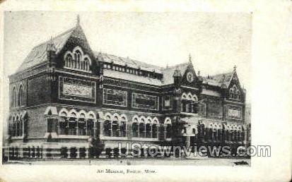 Art Museum - Boston, Massachusetts MA Postcard
