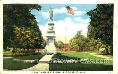 Soldiers Monument - Boston, Massachusetts MA Postcard