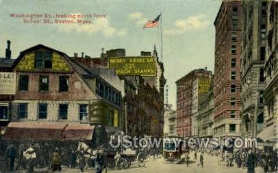 Washington St. - Boston, Massachusetts MA Postcard