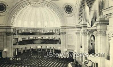 Interior, First Church of Christ - Boston, Massachusetts MA Postcard