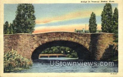 Bridge, Fenway - Boston, Massachusetts MA Postcard