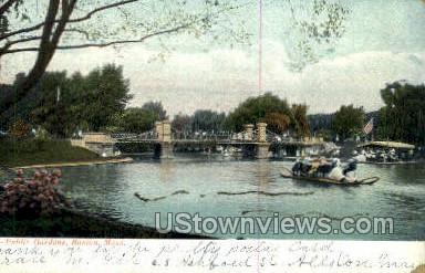 Public Gardens - Boston, Massachusetts MA Postcard