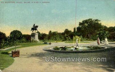 Public Garden - Boston, Massachusetts MA Postcard