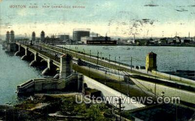 Cambridge Bridge - Boston, Massachusetts MA Postcard