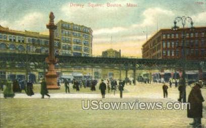 Dewey Square - Boston, Massachusetts MA Postcard