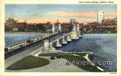 West Boston Bridge - Massachusetts MA Postcard
