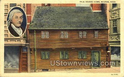 Paul Revere Home - Boston, Massachusetts MA Postcard
