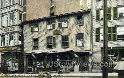 Birthplace of Paul Revere - Boston, Massachusetts MA Postcard