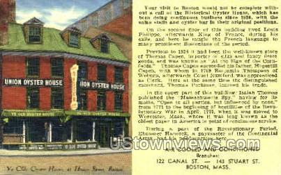 Union Oyster House - Boston, Massachusetts MA Postcard