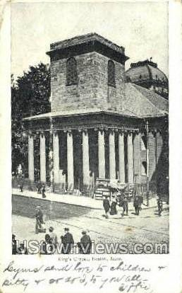 King's Chapel - Boston, Massachusetts MA Postcard