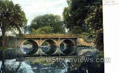 Bridge over Lake, Franklin Park - Boston, Massachusetts MA Postcard