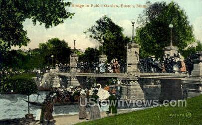 Bridge, Public Garden - Boston, Massachusetts MA Postcard