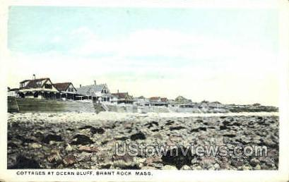 Cottages, Ocean Bluff - Brant Rock, Massachusetts MA Postcard
