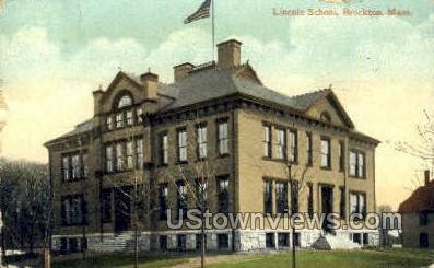 Lincoln School - Brockton, Massachusetts MA Postcard