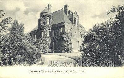 Governor Douglas Residence - Brockton, Massachusetts MA Postcard