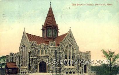 The Baptist Church - Brockton, Massachusetts MA Postcard