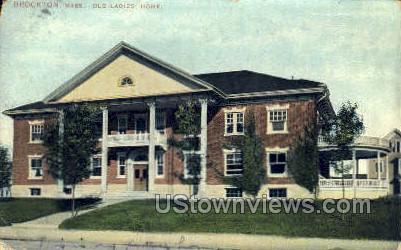 Old Ladies Home - Brockton, Massachusetts MA Postcard