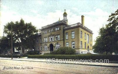 Court House - Brockton, Massachusetts MA Postcard