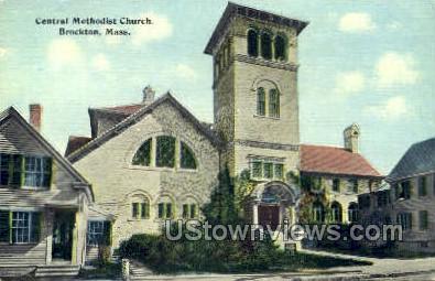 Central Methodist Church - Brockton, Massachusetts MA Postcard