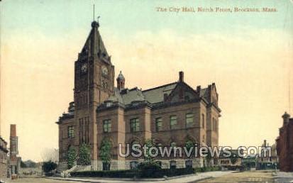 The City Hall - Brockton, Massachusetts MA Postcard