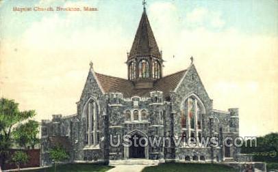 Baptist Church - Brockton, Massachusetts MA Postcard