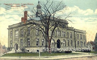 Plymouth County Court House - Brockton, Massachusetts MA Postcard