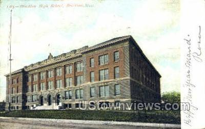 Brockton High School - Massachusetts MA Postcard