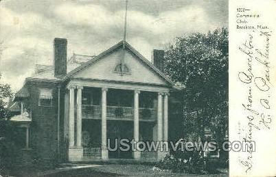 Commercial Club - Brockton, Massachusetts MA Postcard