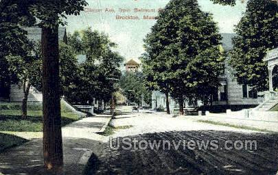 Clinton Ave. - Brockton, Massachusetts MA Postcard