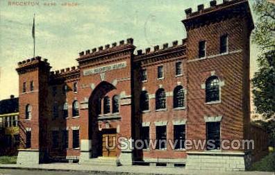Armory - Brockton, Massachusetts MA Postcard