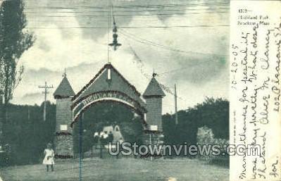 Highland Park - Brockton, Massachusetts MA Postcard