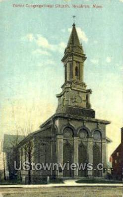 Porter Congregational Church - Brockton, Massachusetts MA Postcard