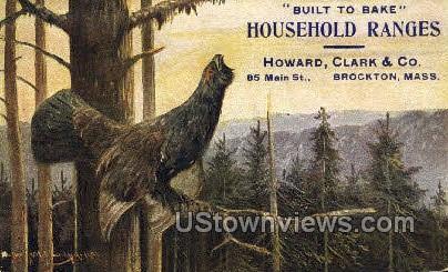 Household Ranges - Brockton, Massachusetts MA Postcard