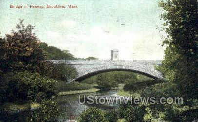 Bridge, Fenway - Brookline, Massachusetts MA Postcard