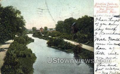 Brookline Parkway - Massachusetts MA Postcard