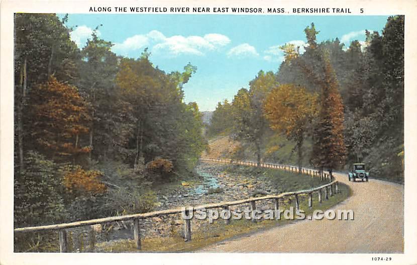 Along the Westfield River near East Windsor - Berkshire Hills, Massachusetts MA Postcard