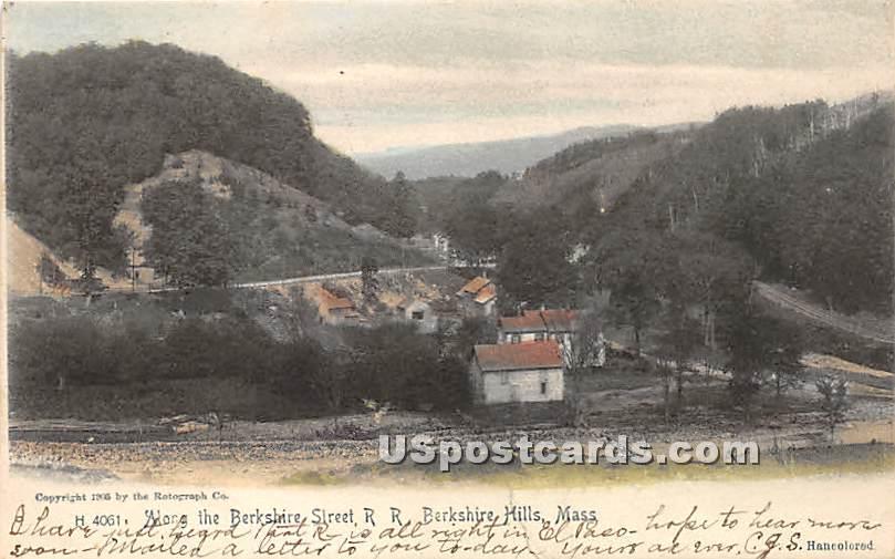 Berkshire Street RR - Berkshire Hills, Massachusetts MA Postcard