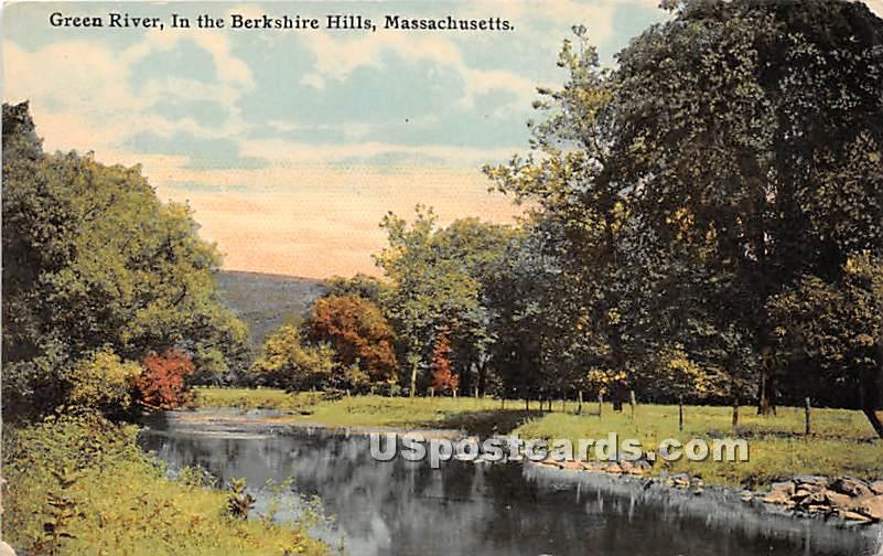 Green River - Berkshire Hills, Massachusetts MA Postcard