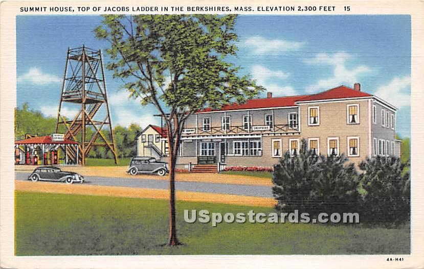 Summit House Top of Jacobs Ladder - Berkshire Hills, Massachusetts MA Postcard