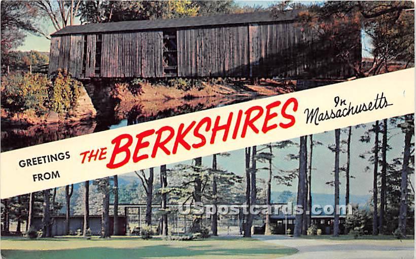 Old Covered Bridge - Berkshire Hills, Massachusetts MA Postcard